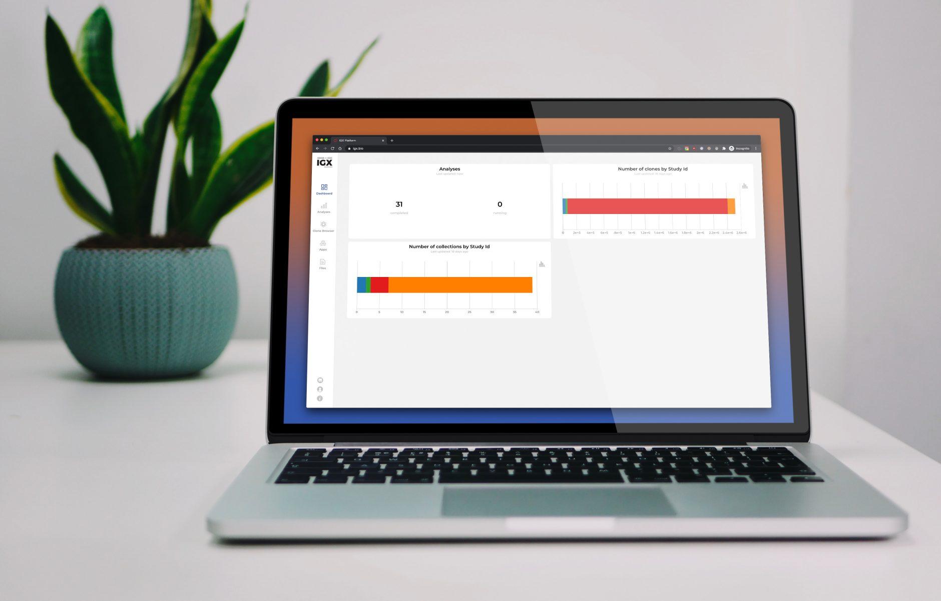 IGX Platform v2.1 - Dashboard