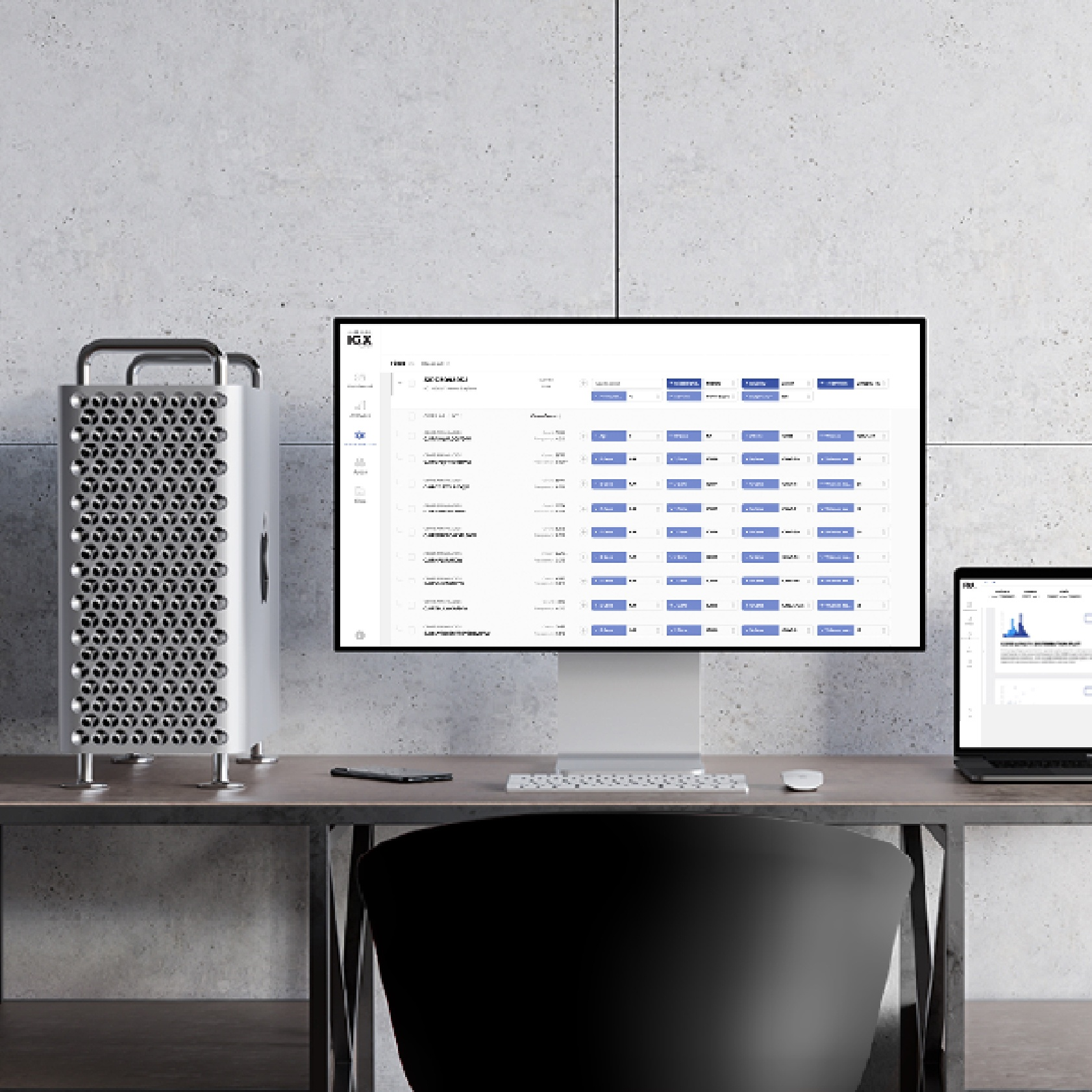 A desktop displaying the IGX Platform software